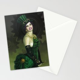 """""""BaronessSamadhi"""" Steampunk Pin-Up Stationery Cards"""