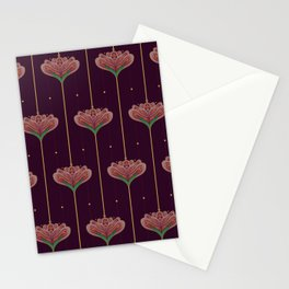 Wallpaper Floral Pattern In Style OF William Morris Stationery Cards