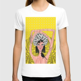 Girl with crow T-shirt