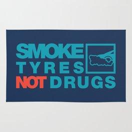 SMOKE TYRES NOT DRUGS v2 HQvector Rug