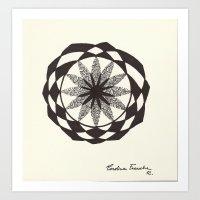 jojo Art Prints featuring jojo by Carolina Frauche