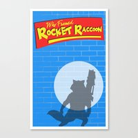 rocket raccoon Canvas Prints featuring Who Framed Rocket Raccoon? by AnthemTheFaux