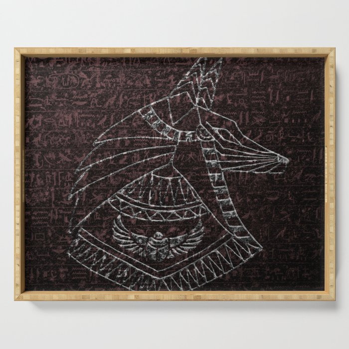 Anubis Egyptian God Serving Tray