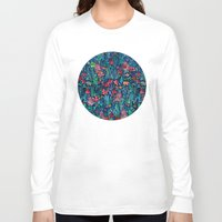 garden Long Sleeve T-shirts featuring Tropical Ink - a watercolor garden by micklyn
