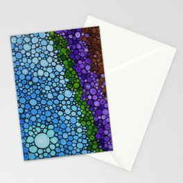 Lavender Fields - France French Landscape Art Stationery Cards