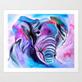 Save the Elephants Art Print
