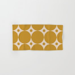 Futura Mid-century Modern Minimalist Abstract Pattern in Mustard Gold Hand & Bath Towel