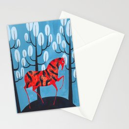 Smug red horse Stationery Cards