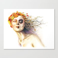 Lady Autumn Canvas Print