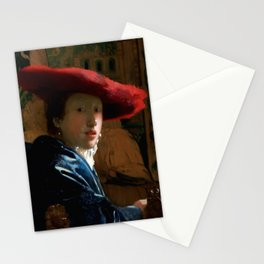 "Johannes Vermeer ""Girl with a Red Hat"" Stationery Cards"