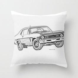1968 Nova Throw Pillow