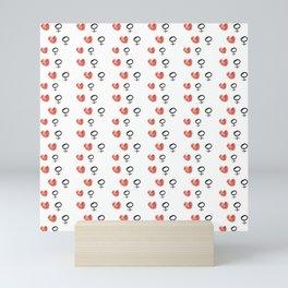 symbol of woman with a heart 5 Mini Art Print