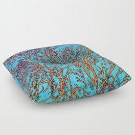 Coral Orange Floor Pillow