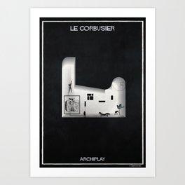 01_ARCHIPLAY_le corbusier Art Print