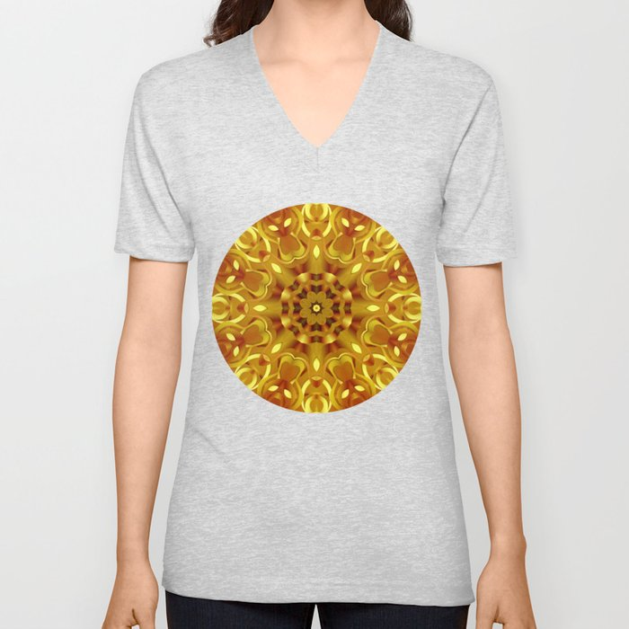 kaleidoscope Flower G68 Unisex V-Neck