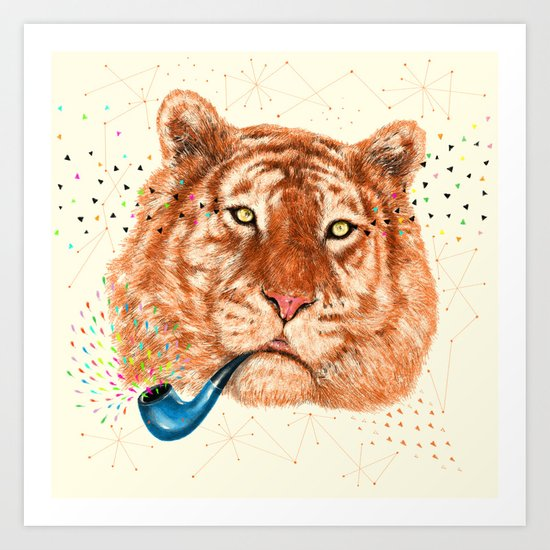 TIGER CRY I Art Print