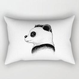 Punk Panda Profile Rectangular Pillow