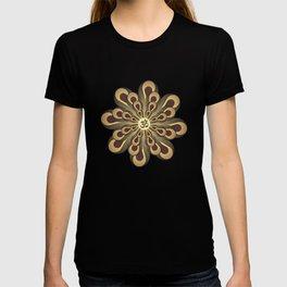 Om Mandala, Purple and Gold Fractal, Spiritual Gift, Yoga Lifestyle T-shirt