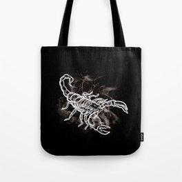 White Scorpion Stylish Scorpio Zodiac Tote Bag