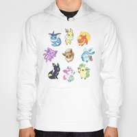 umbreon Hoodies featuring Colorful Evolutions by Kaydee Elaine - Odd Kitten Art