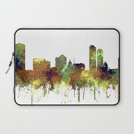 Milwaukee, Wisconson Skyline SG - Safari Buff Laptop Sleeve
