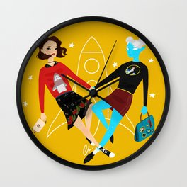 Lux and Margo: When In Coach Wall Clock