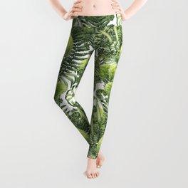 Watercolor prehistoric plants Leggings