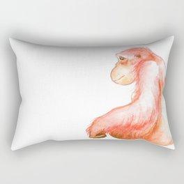 Elka, Orangutan Watercolor Rectangular Pillow