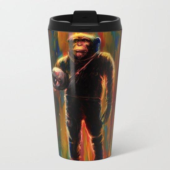 Commander Chimp Metal Travel Mug