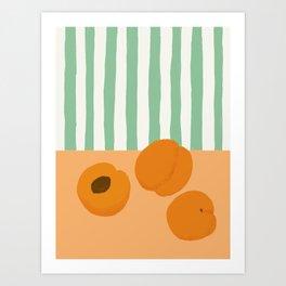 Summer Apricots Art Print