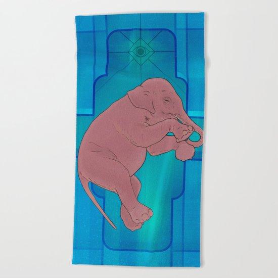 Astral Elephant Beach Towel