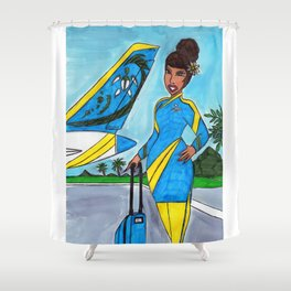 South Pacific Shower Curtain