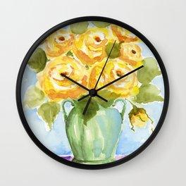 Yellow Rose of Texas Wall Clock