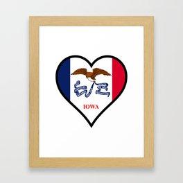 Love Iowa Framed Art Print