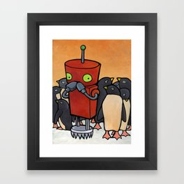 Robot - You Make Me Laugh Framed Art Print