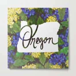 Oregon - Oregon Grape Metal Print