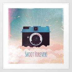 Shoot Forever Art Print