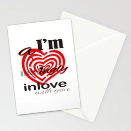 I'm  A mazingly in love with you Romantic Valentines Day Matching Shirt Stationery Cards