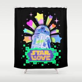 R2-D2 Star Love Shower Curtain