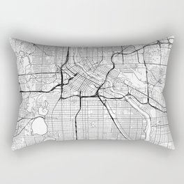 Minneapolis Map White Rectangular Pillow