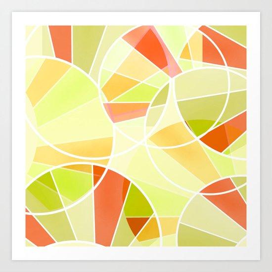 Yellow-red green summer pattern . Art Print