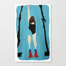 Swimming Upstream  Canvas Print