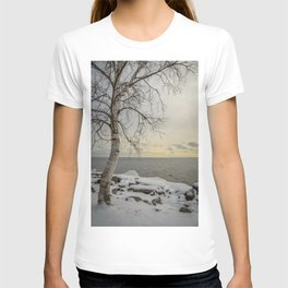 Curves of the Silver Birch by Teresa Thompson T-shirt