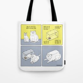 How to Stop a Cat from Stealing Food Tote Bag