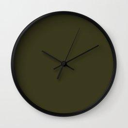 Garden Boot Green in an English Country Garden Wall Clock