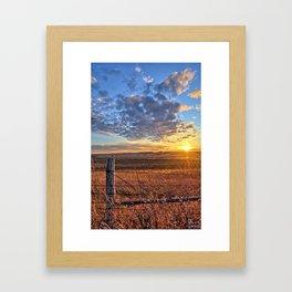 Sunset Fenceline 2 Framed Art Print