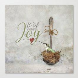 A Spoonful of Hummingbird Canvas Print