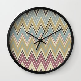 Ethnic patterns. Tribal pattern . Wall Clock