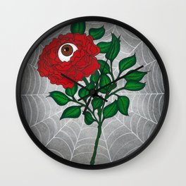 Caught -Eyeball Flower Wall Clock