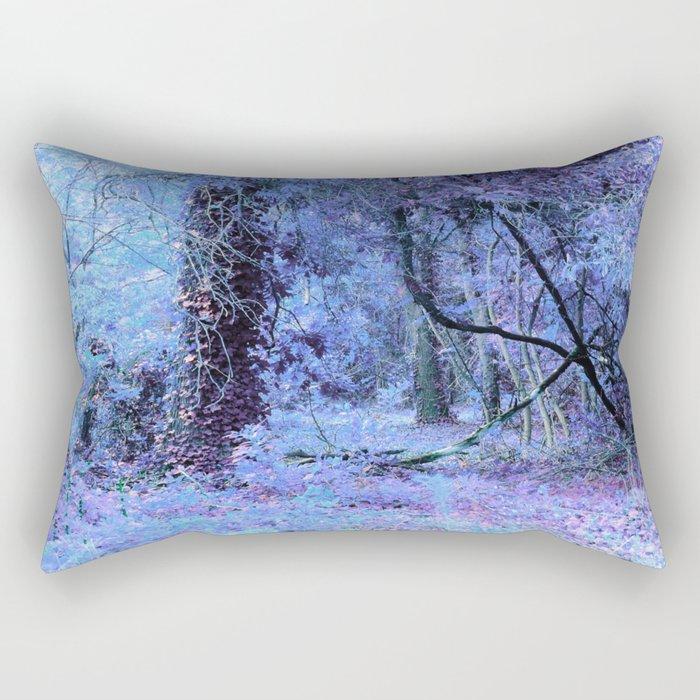 Periwinkle Tree Landscape Rectangular Pillow